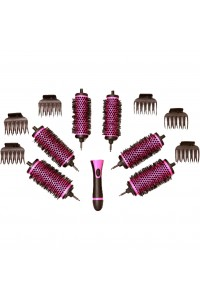 Ceramic Ionic Detachable Volumising Brush Set 6pc