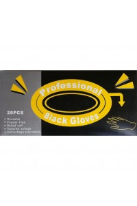 GL1793 Gloves Latex Reusable Black Box 20 Medium