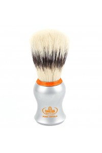 Shave Brush Omega Orange Ring Matt Chrome 11573