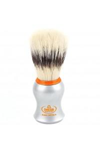 Shave Brush Omega Orange Ring Matt Chrome 11573