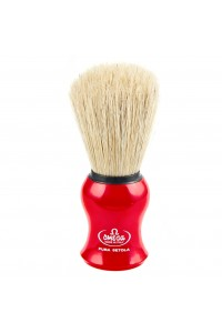 Shave Brush Omega Red Pura Setola