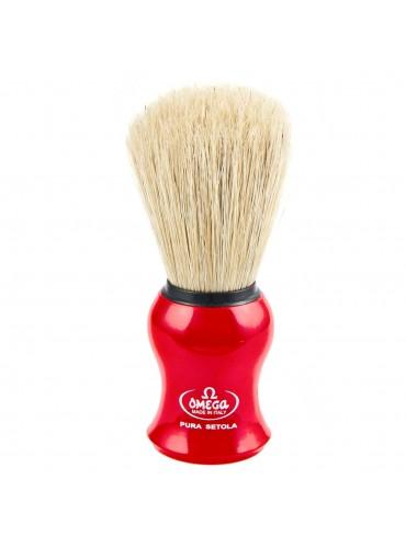 Shave Brush Omega Red Pura Setola