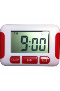 Timer Digital Rectangle Red And White Touch