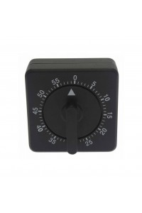 Timer Mechanical Square Black Touch